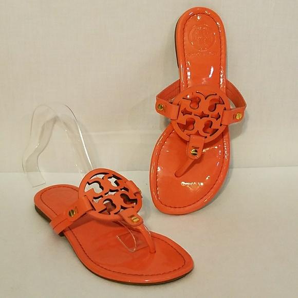 Tory Burch Orange Miller Patent Leather